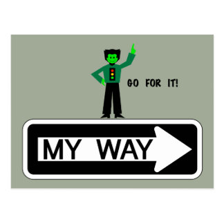 My Way - Go For It! Postcard