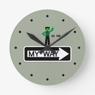 My Way - Go For It! Round Clock