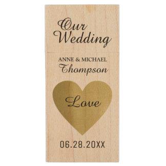 my wedding moments special photos wood USB flash drive