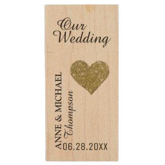 my wedding photos, love memories wood USB flash drive