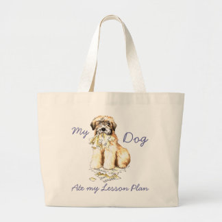 My Wheaten Ate My Lesson Plan Tote Bags