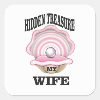 my wife hidden treasure yeah square sticker