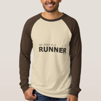 MY WIFE IS A RUNNER 13.1MI/GYNECOLOGIC-OVARIAN T-Shirt