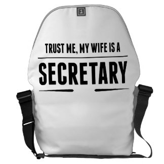My Wife Is A Secretary Commuter Bag