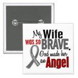 My Wife Is An Angel 1 Brain Cancer 2 Inch Square Button