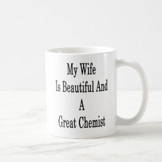 My Wife Is Beautiful And A Great Chemist Coffee Mug