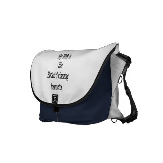 My Wife Is The Hottest Swimming Instructor Courier Bag