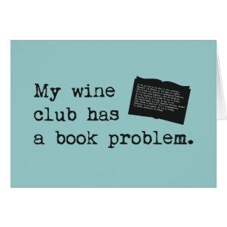 My Wine Club Has a Book Problem Card
