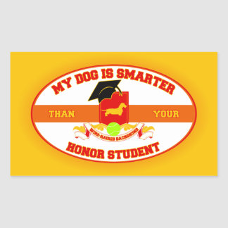My Wire-haired Dachshund Is Smarter Rectangle Sticker