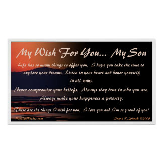 My Wish For You... My Son Poster