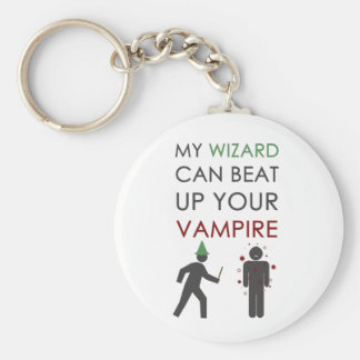 My Wizard Could Beat Up Your Vampire Basic Round Button Keychain