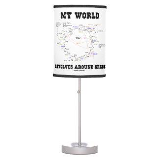 My World Revolves Around Krebs Biochemistry Humor Table Lamp