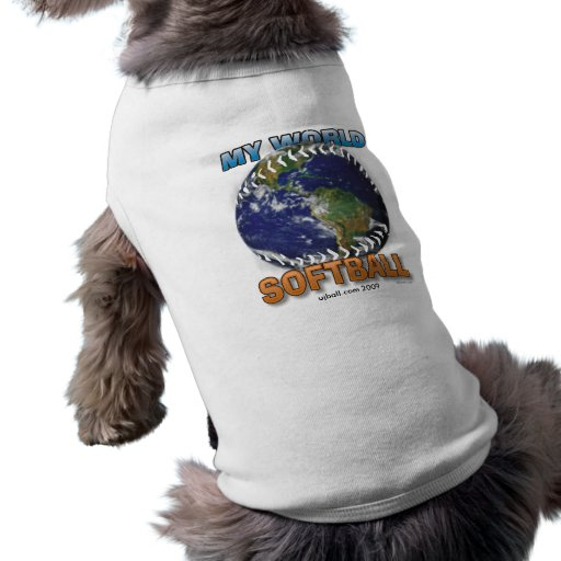 My World Softball Pet Shirt