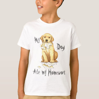My Yellow Lab Ate my Homework T-Shirt