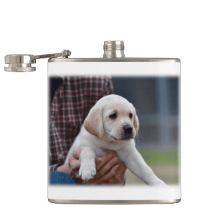 My Yellow Labrador Hip Flask