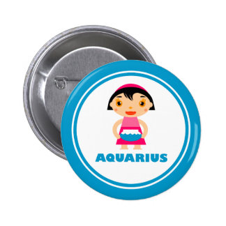 My Zodiac Sign is Aquarius 2 Inch Round Button