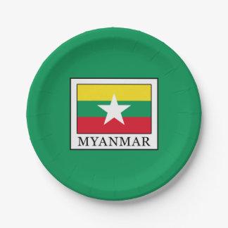 Myanmar 7 Inch Paper Plate