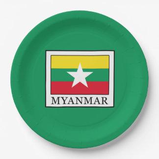 Myanmar 9 Inch Paper Plate