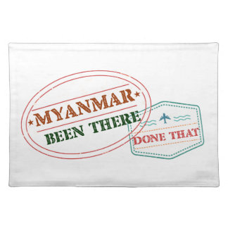 Myanmar Been There Done That Placemat