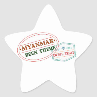 Myanmar Been There Done That Star Sticker