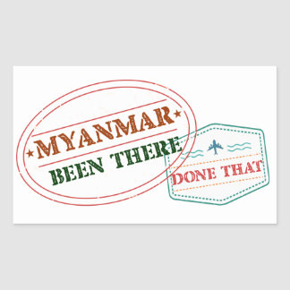 Myanmar Been There Done That Sticker