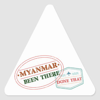 Myanmar Been There Done That Triangle Sticker