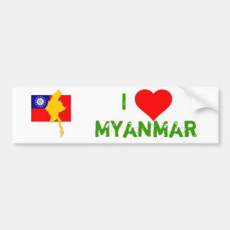 Myanmar - Burma Bumper Sticker