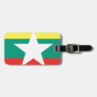 Myanmar (Burma) Flag Luggage Tag