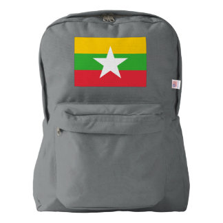 Myanmar Flag Backpack