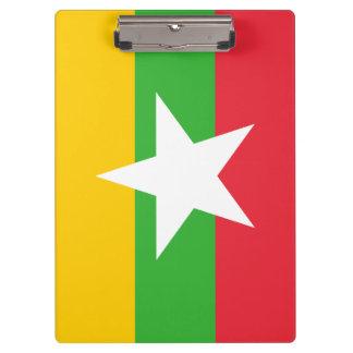 Myanmar Flag Clipboard