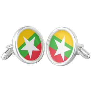 Myanmar Flag Cufflinks