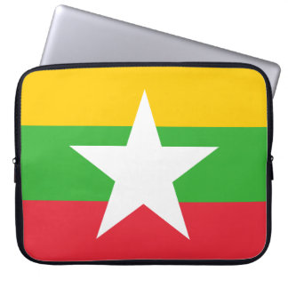Myanmar Flag Laptop Sleeve