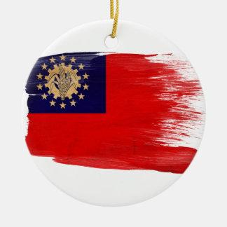 Myanmar Flag Christmas Ornament