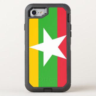 Myanmar Flag OtterBox Defender iPhone 8/7 Case
