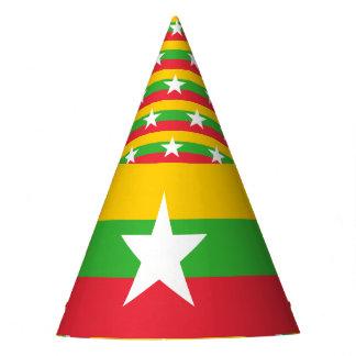 Myanmar Flag Party Hat