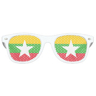 Myanmar Flag Retro Sunglasses