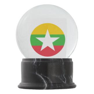 Myanmar Flag Snow Globe