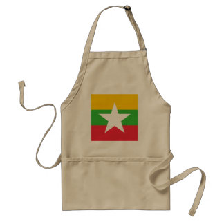 Myanmar Flag Standard Apron