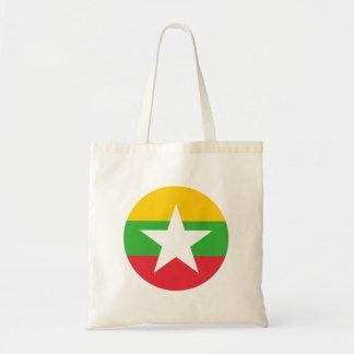 Myanmar Flag Tote Bag
