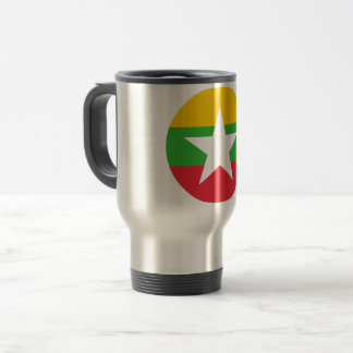 Myanmar Flag Travel Mug