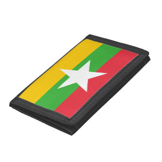 Myanmar Flag Trifold Wallets