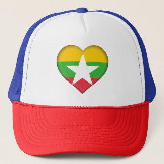 Myanmar Flag Trucker Hat
