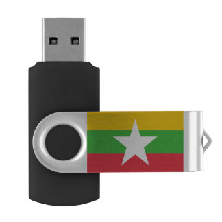 Myanmar Flag USB Flash Drive