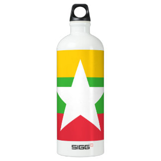 Myanmar Flag Water Bottle