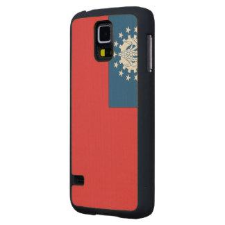 Myanmar Flag Maple Galaxy S5 Slim Case