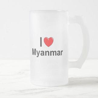 Myanmar Frosted Glass Beer Mug