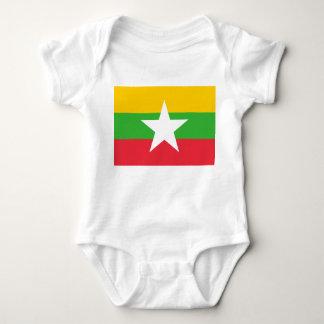 Myanmar National World Flag Baby Bodysuit