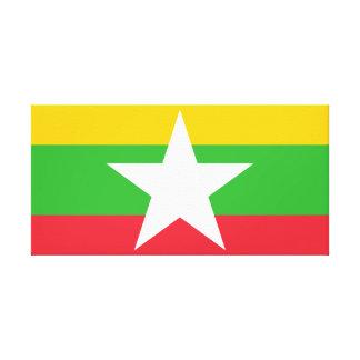 Myanmar National World Flag Canvas Print