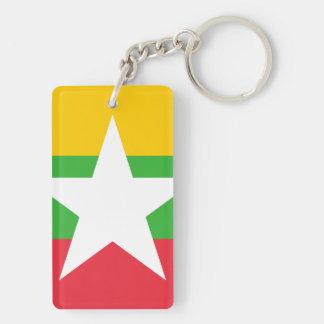 Myanmar National World Flag Keychain