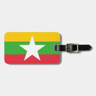 Myanmar National World Flag Luggage Tag